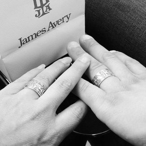 it only took 17 years to finally get the matching rings i wanted jamesavery - James Avery Wedding Rings