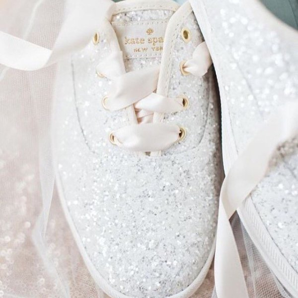 Wedding sneakers tennis shoes keds keds x kate spade glitter junglespirit Images