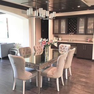 We Are All About ZGallerie Paired The Sophie Dining Table With Charlotte