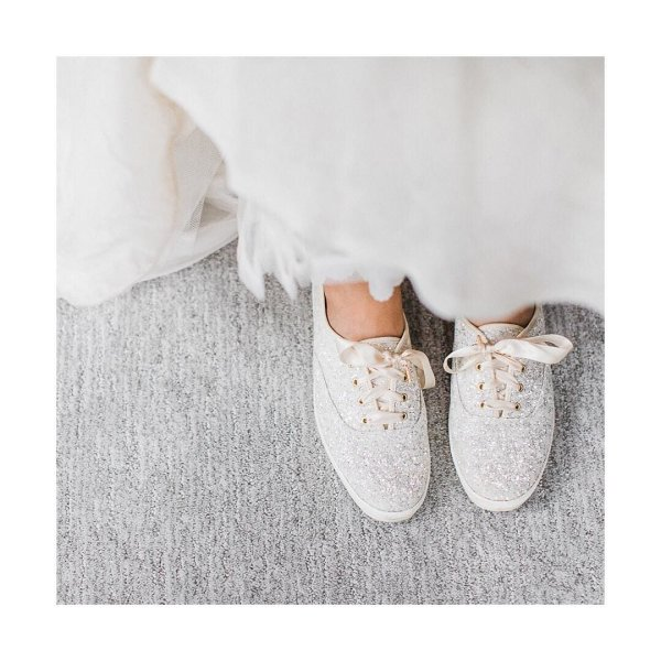 The Perfect Wedding Shoes Were OBSESSED With These Katespadeny Keds For