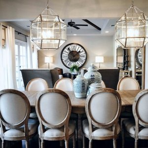 Elegant dining from  saraplattdesign   Our French Country Dining Table fits  any style and withFrench Country Dining Table   Wisteria. French Country Dining Tables. Home Design Ideas