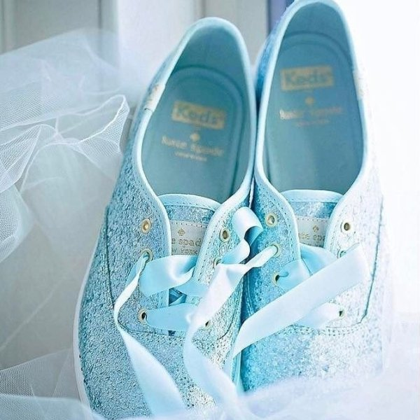 sparkly and comfortable katespadeny for the wedding party theveil_mag gettingmarried