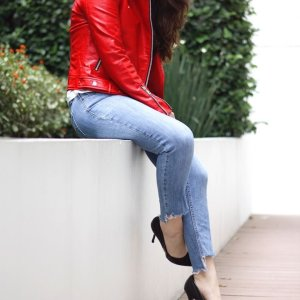 My new favorite jacket (following my present obsession with #red) is the  latest