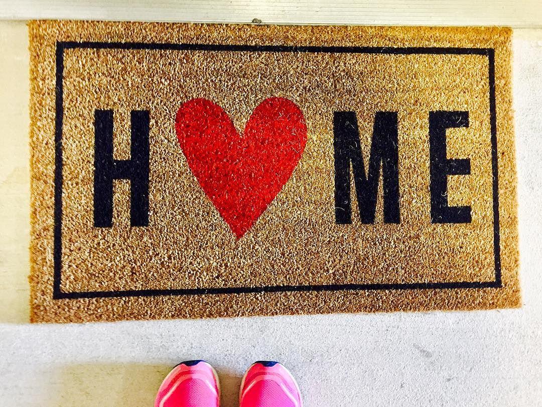 Floor mats target - Home With Heart Typography Doormat
