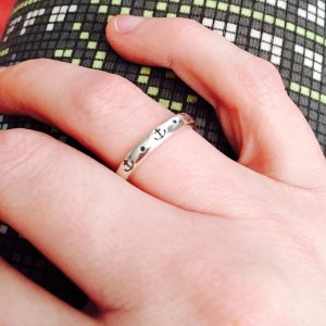 my new james avery stackable ring has cute little anchors and stacks great with - James Avery Wedding Rings