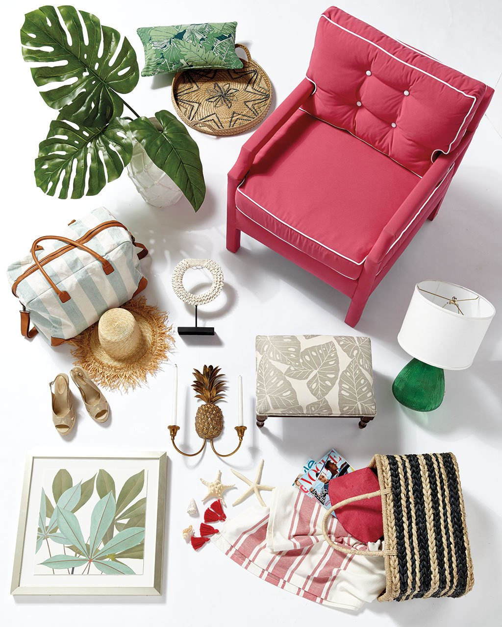 vacation style 2 ways how to decorate palmae green fabric by the yard ballard designs