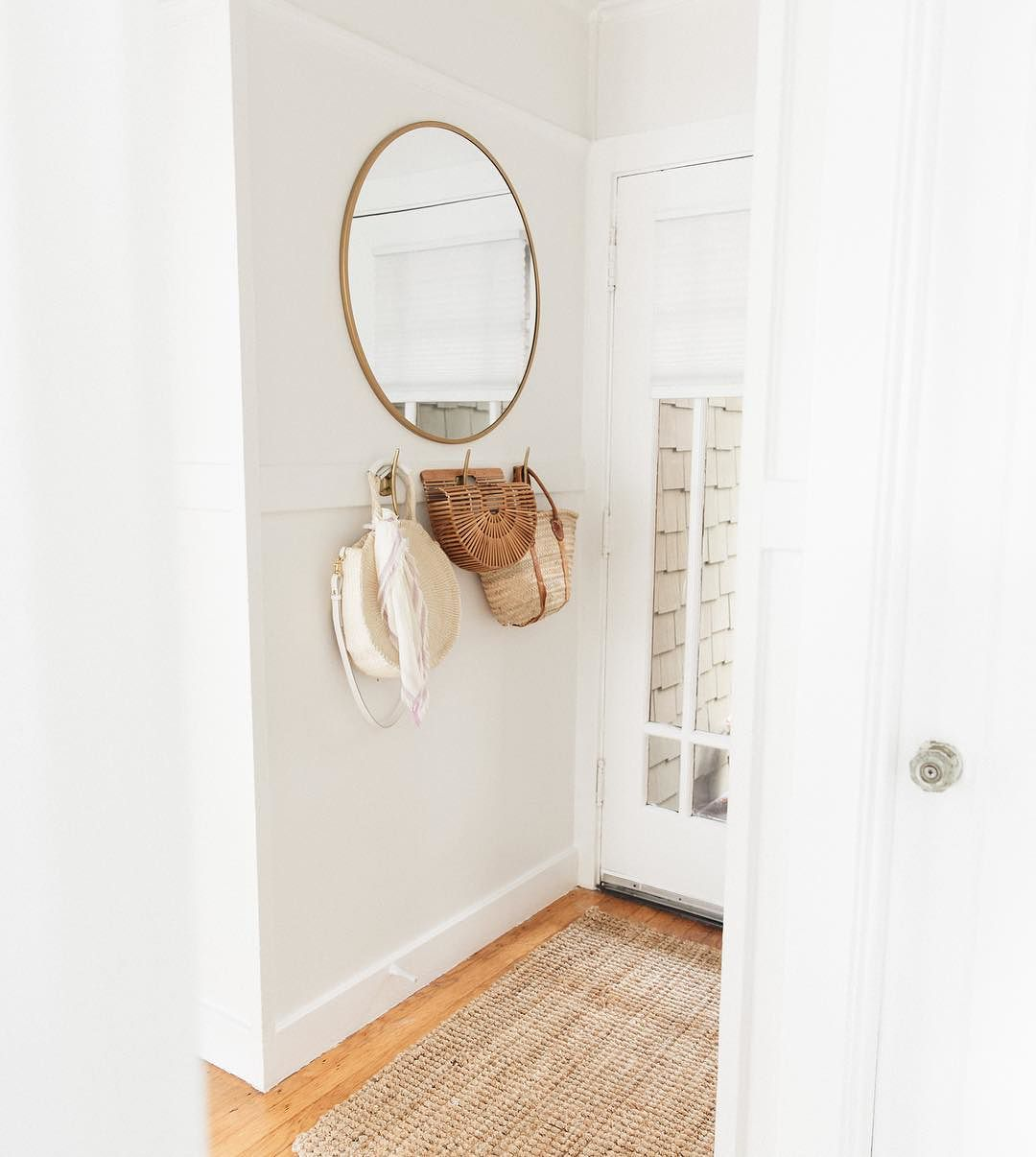 Round Decorative Wall Mirror Brass Threshold Target
