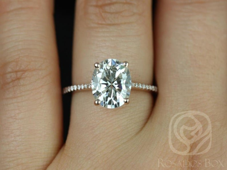 Blake Oval Engagement Ring on Hand