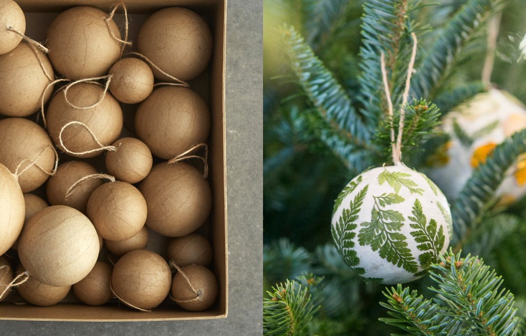 how to pressed flower globe ornaments the blog at terrain - Flower Christmas Ornaments
