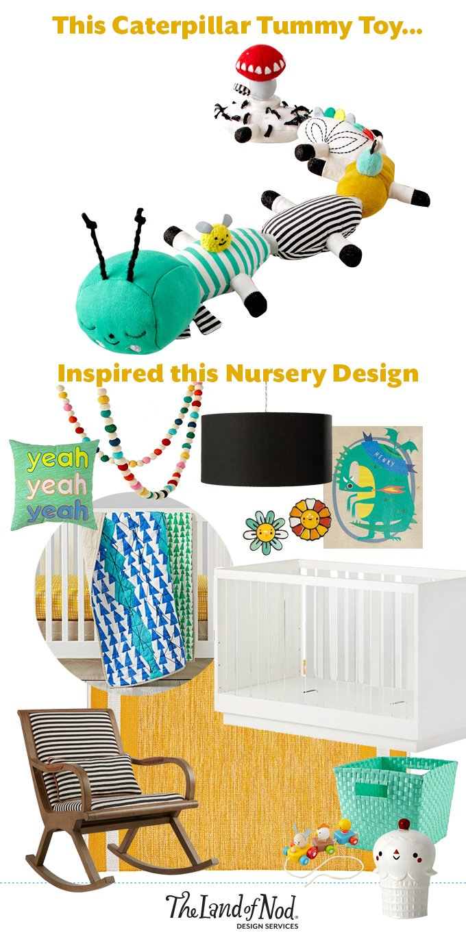 From Inspiration to Nursery Design: Caterpillar Tummy Toy