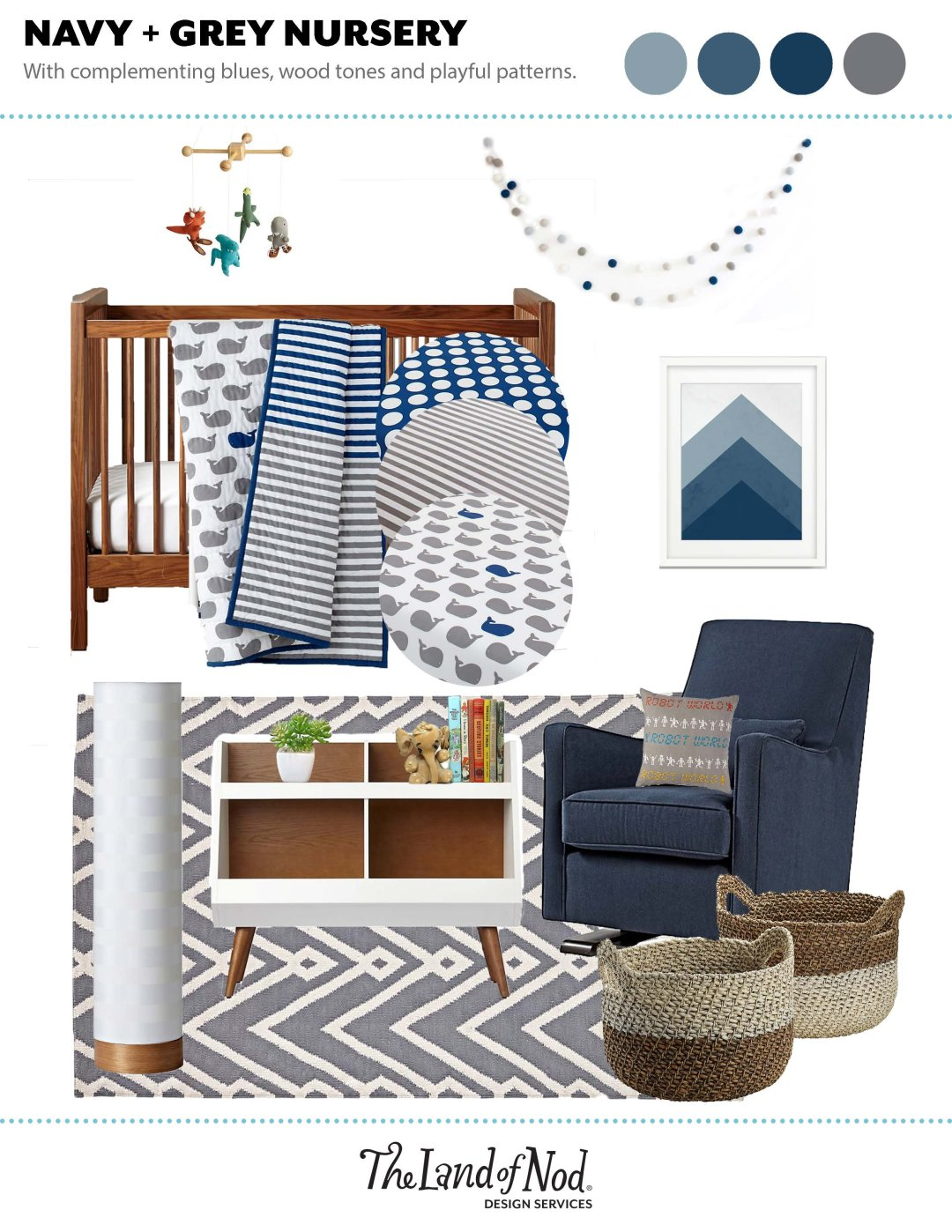 Navy & Grey Nursery Inspiration