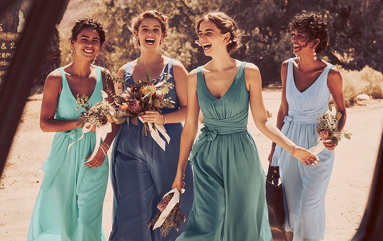 6a1fc5194dc So what will it be  sky blues or punchy pinks  A single shade or a whole  rainbow  Browse ideas for bridesmaids