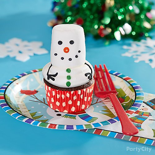 curated image with colorful smiling snowman lunch plates 60ct colorful smiling snowman lunch nap