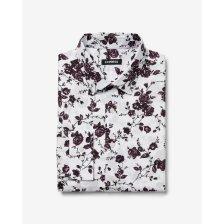 Shop Extra Slim Dark Floral Print Dress Shirt White Men's M Tall and more