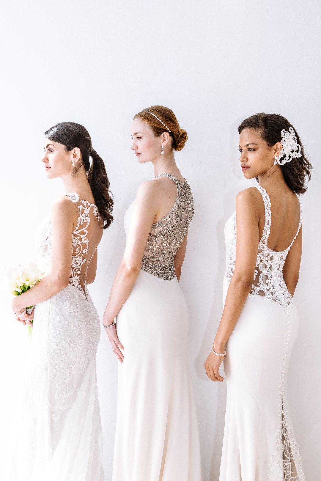 d49afdbbd9c0b Plunging Illusion Bodice Lace Wedding Dress - Davids Bridal