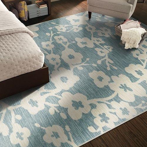 blue floral rug - Mohawk Home - blue rug