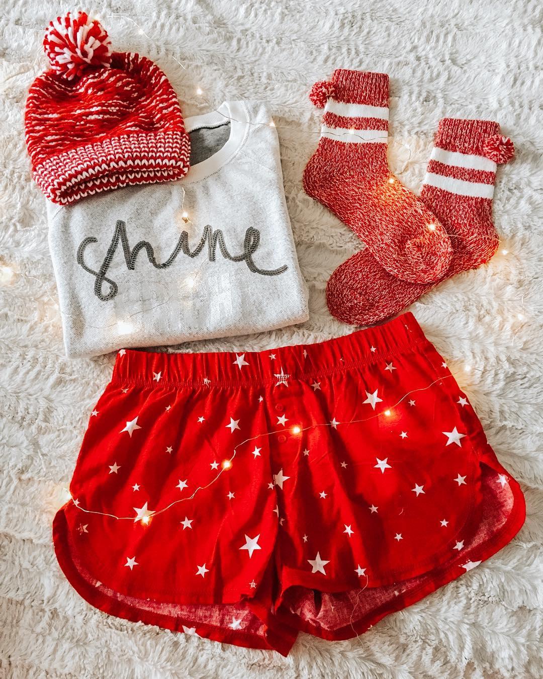 4db67ecca2 Women s Shine Bright 4pc Pajama Set - Xhilaration White   Target Finds