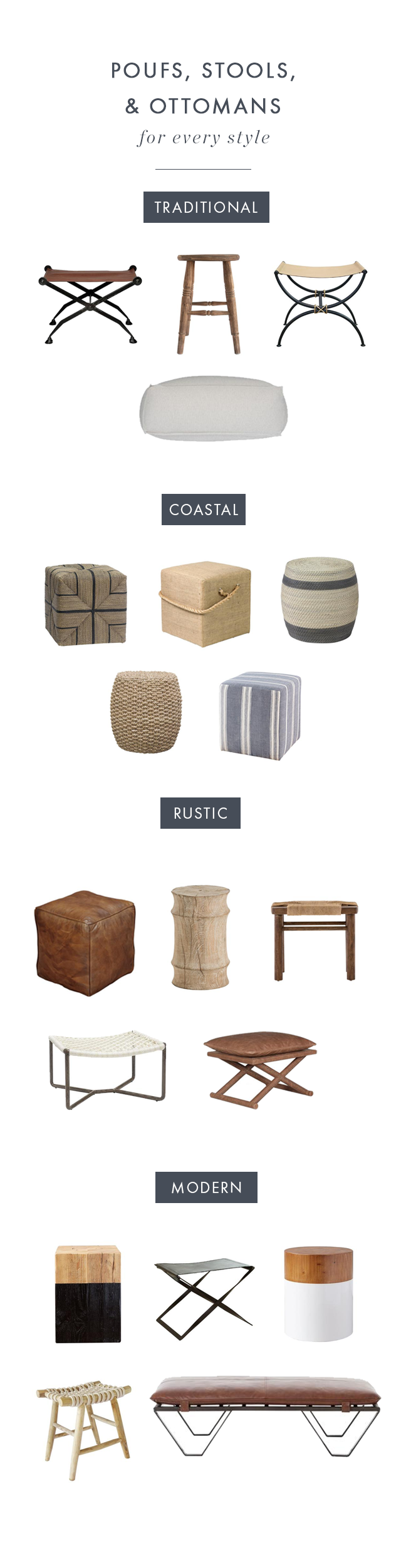 Stools, Poufs, and Ottomans for Every Style