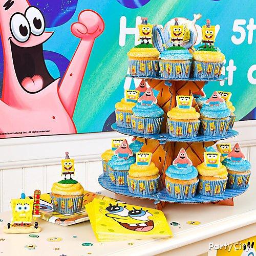Surprising Spongebob Party Ideas Party City Funny Birthday Cards Online Fluifree Goldxyz