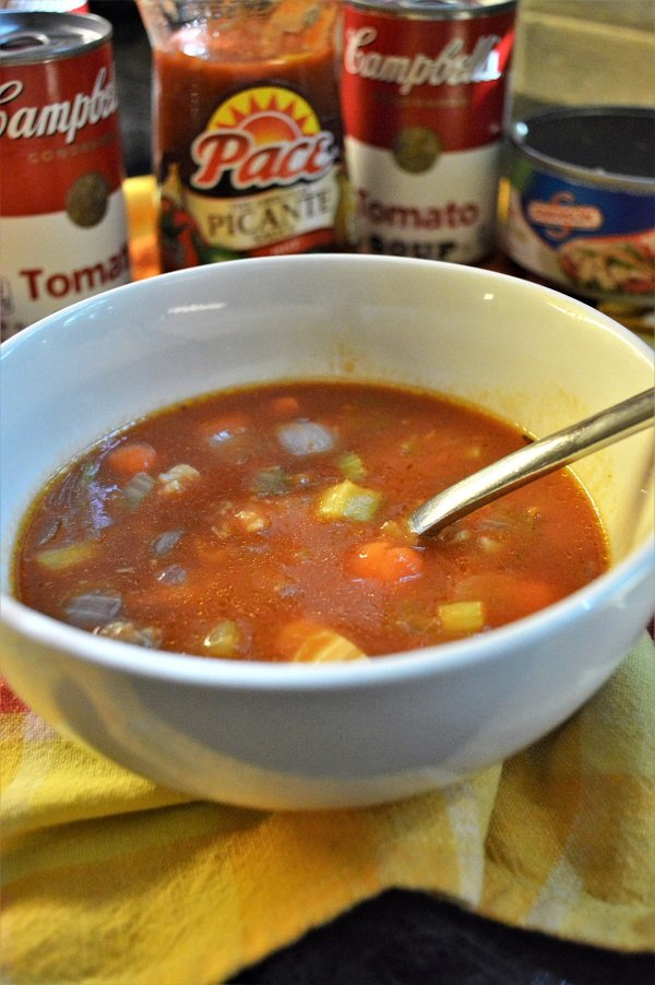 This recipe for Spicy Chicken Tomato Soup is the ideal go-to meal for those busy school nights!