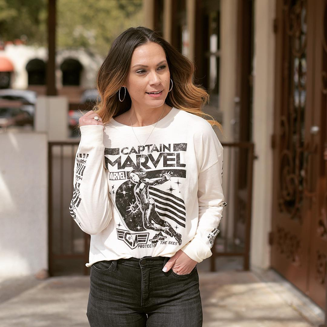 bd23941ee818a ... Women's Captain Marvel Long Sleeve Graphic T-Shirt (Juniors') - White!  see all your loves · instagram photo by @thegoodnerremedy. instagram photo  by @ ...