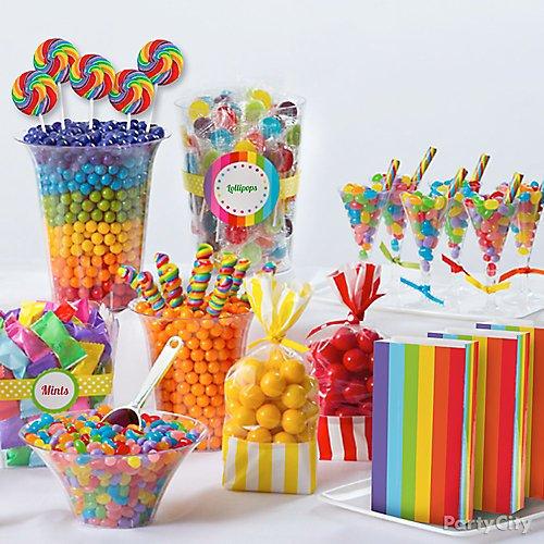 Rainbow Candy Buffet Ideas Party City