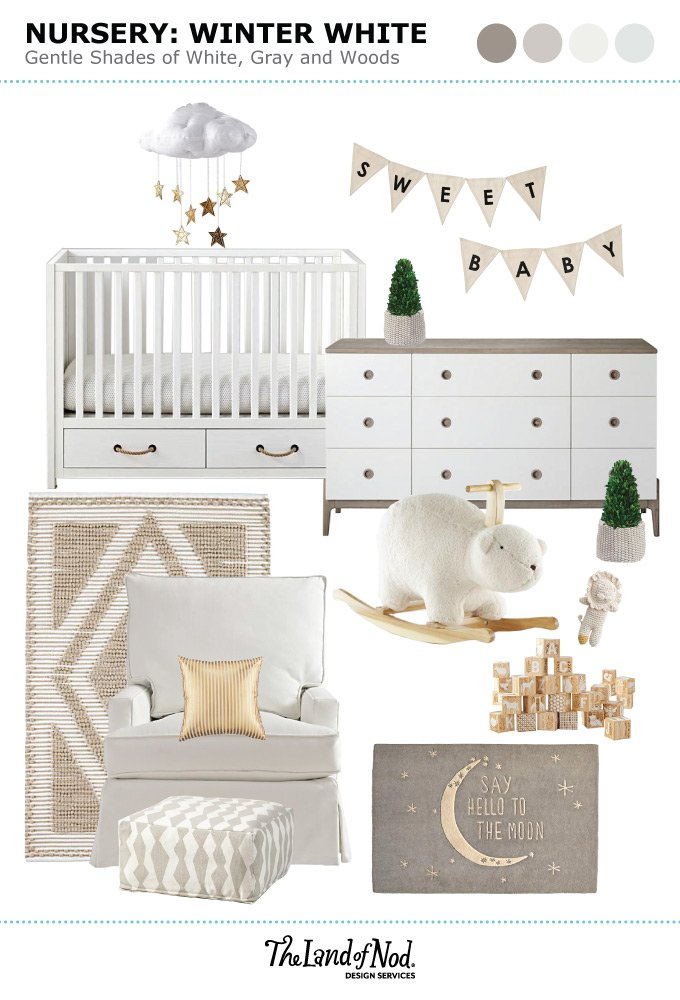 b64e4daa428 Winter White Nursery Inspiration