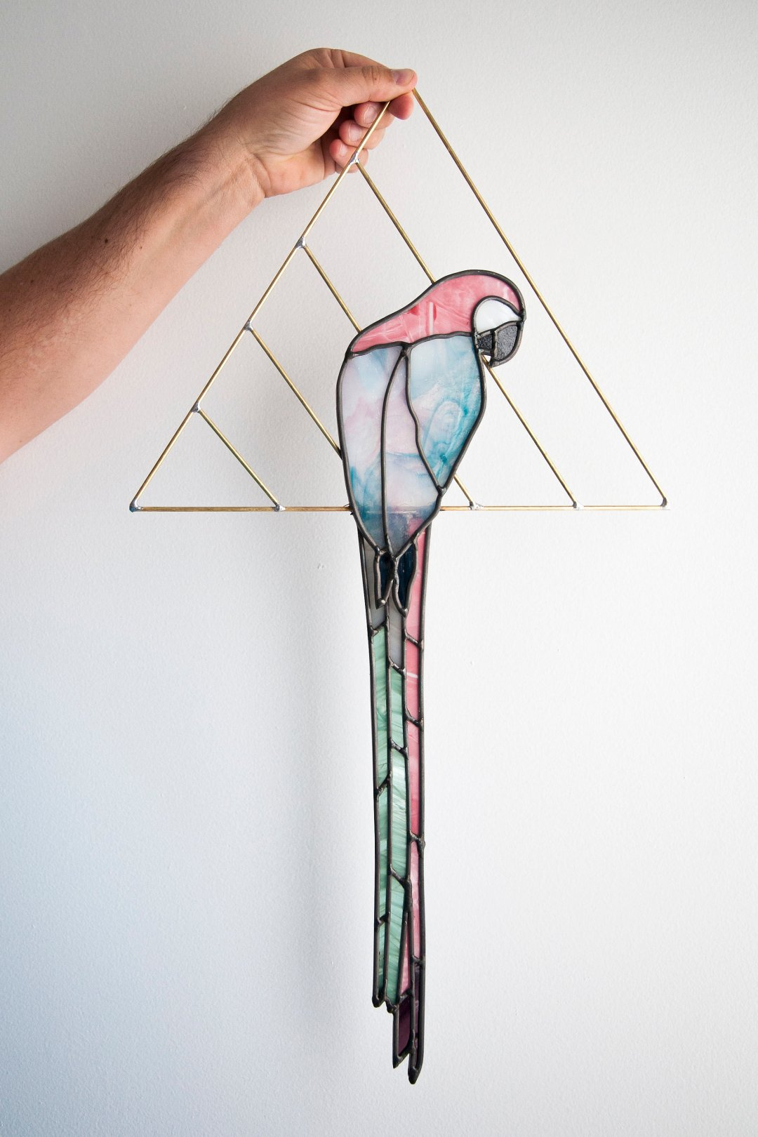 A stained-glass parrot from Szklo Glass