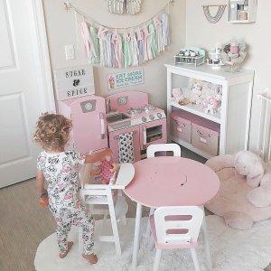 Pink Retro Kitchen & Refrigerator