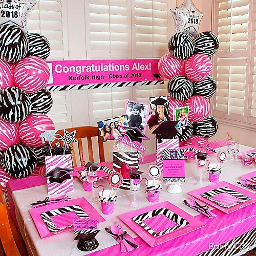 Peachy Pink And Zebra Print Graduation Party Ideas Party City Interior Design Ideas Clesiryabchikinfo