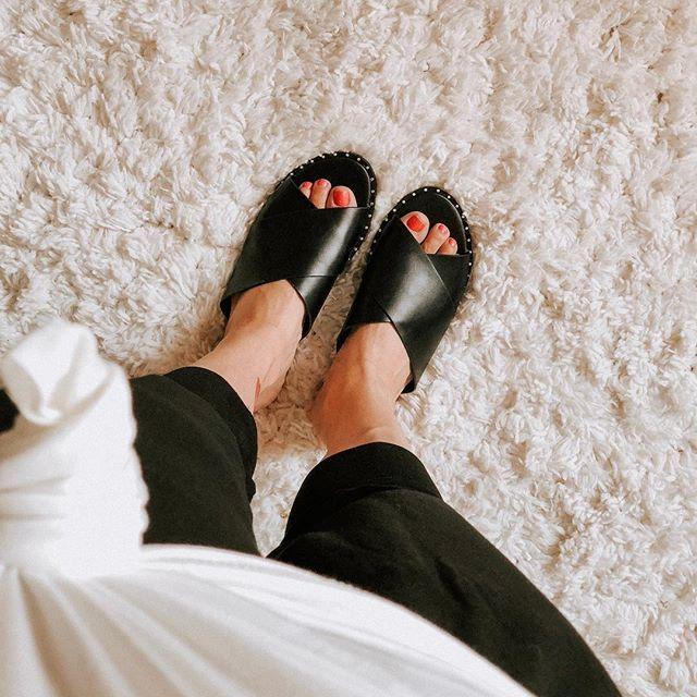 d7eb63f0ba6d Women s Kyleigh Cross Band Slide Sandals - Universal Thread   Target ...