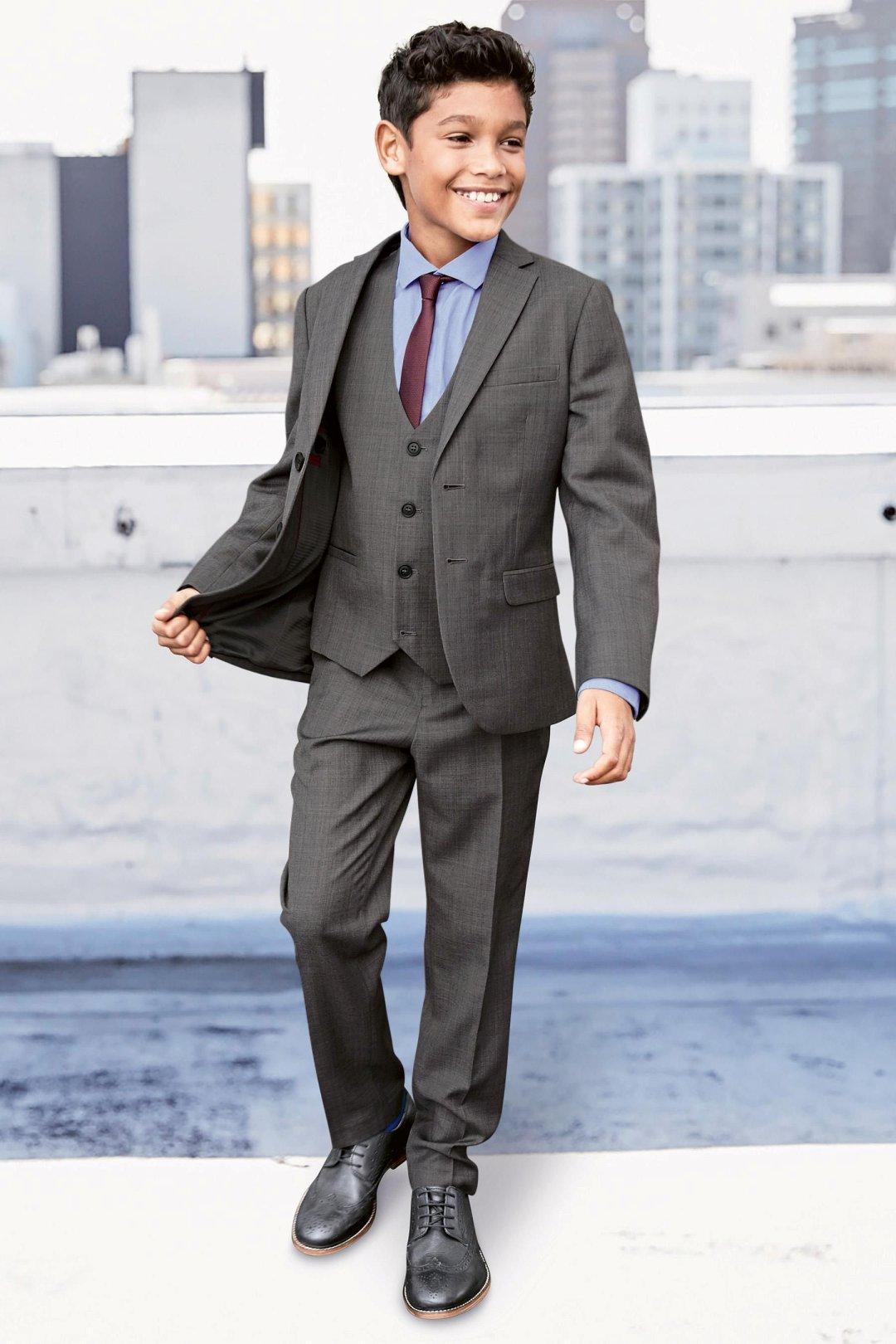 Boys three piece grey suit