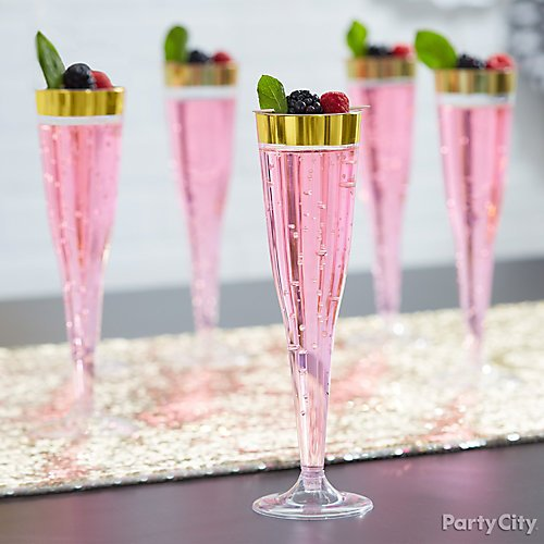 Pink Gold And Stripes Bridal Shower Ideas Party City