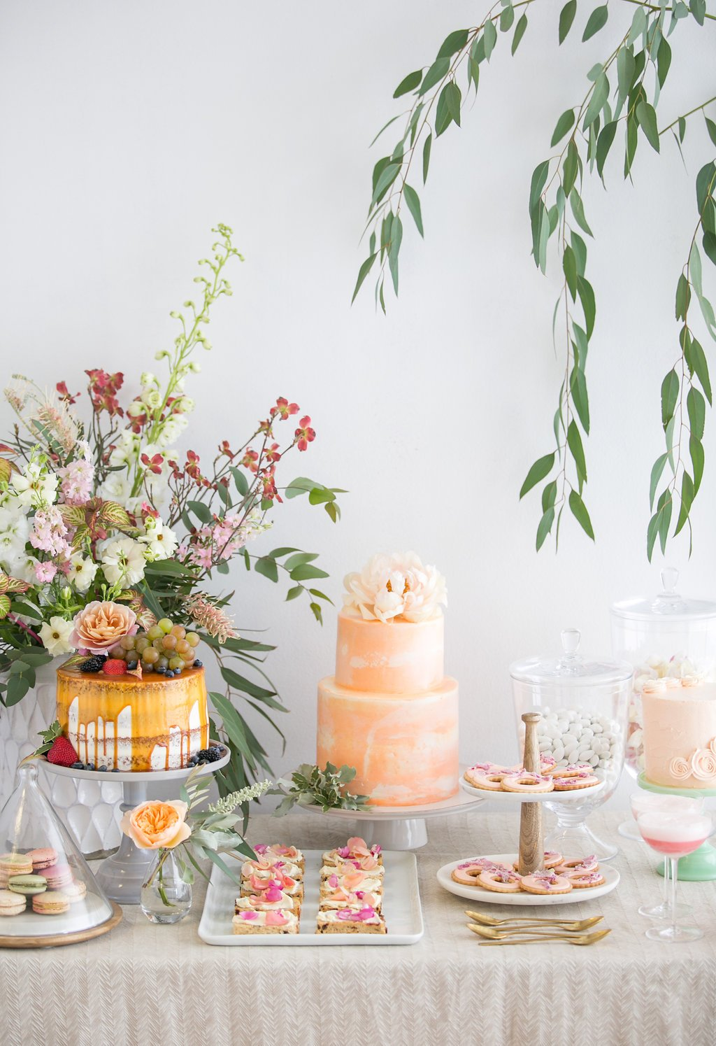 dessert ideas for bridal shower table