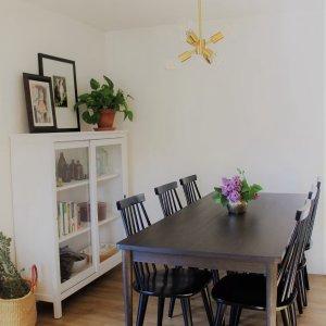 Modern Farmhouse Dining Table - Cerused Carob
