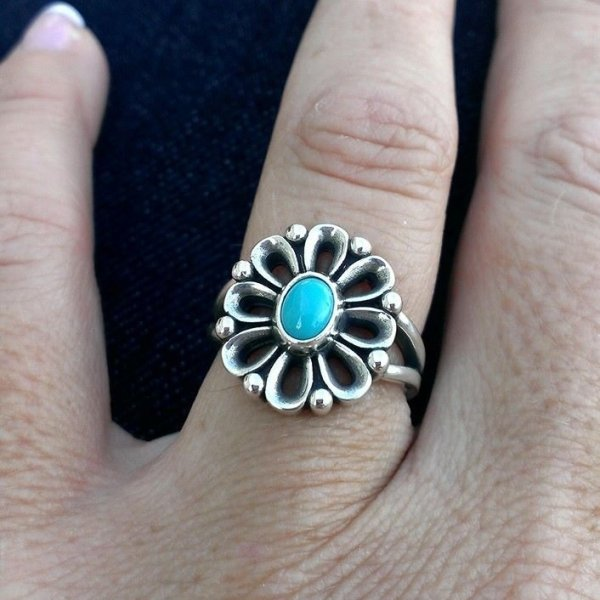 97a0657bc De Flores Ring with Turquoise - James Avery