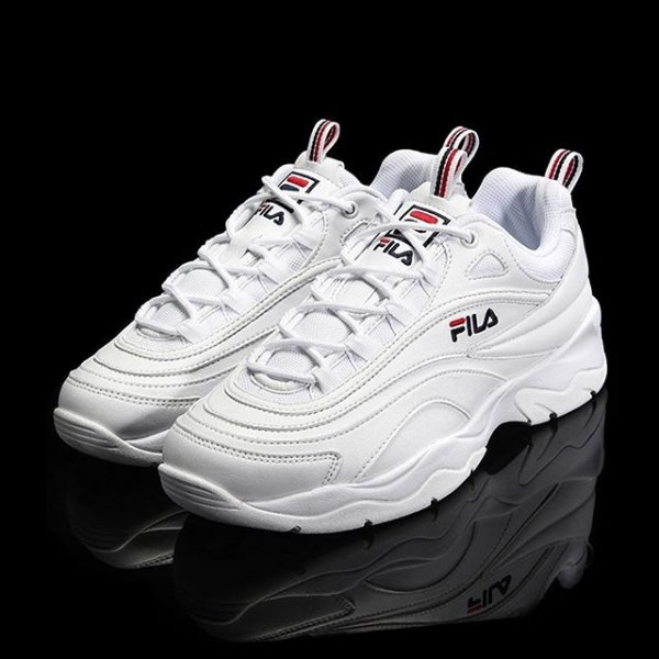 994526f32ee47 Add some chunky creps to your rotation with these women s Ray trainers from  Fila. Big