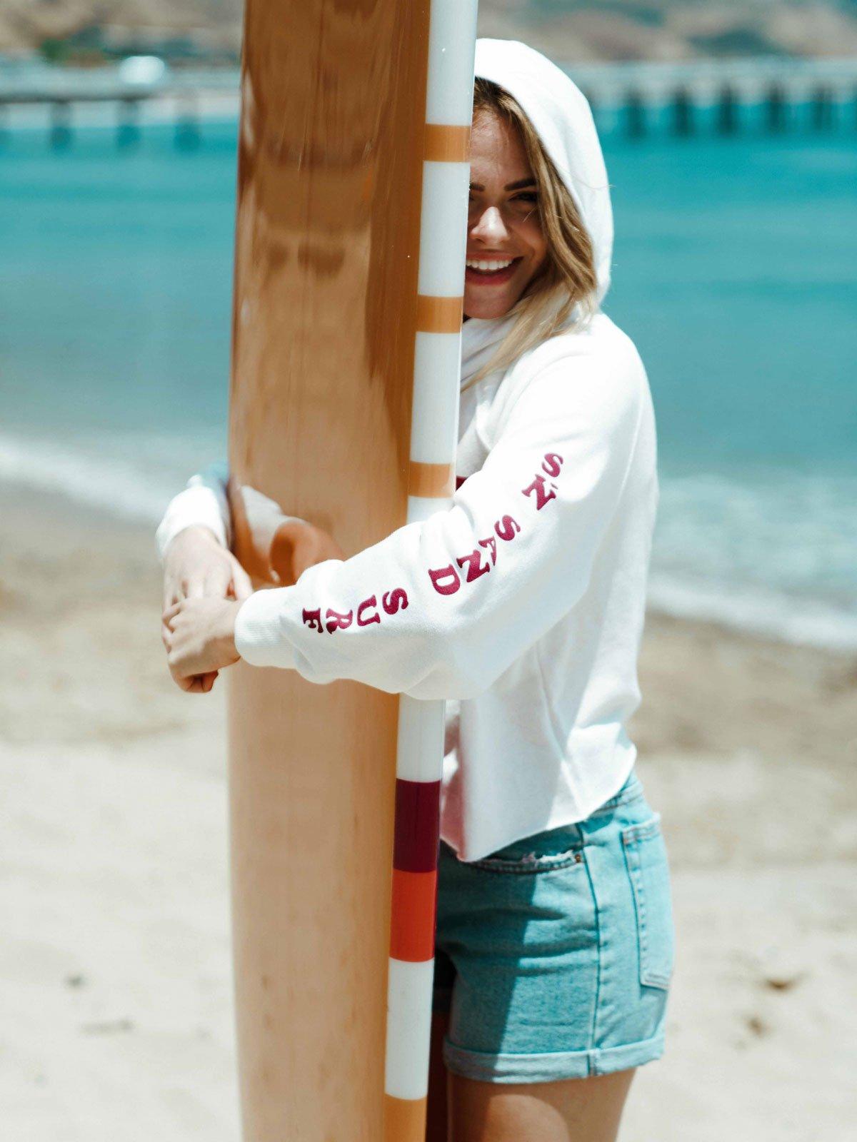 Sandy Days Fleece Hoodie & Button Front High Tide Short