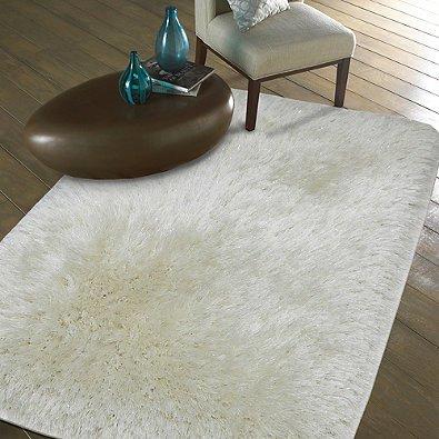 - plush metallic - Heidi Milton - Mohawk Home - shag rug - area rug - metallic shag rug - white rug - white mohawk rug