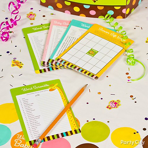 Curated image with Fisher-Price Jungle Baby Shower Game Kit, Baby Shower Tummy Tape, Diaper Baby...