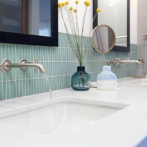 Purist WallMount Sink Faucet Trim Cross Handles KT KOHLER - Kohler wall mount bathroom faucet