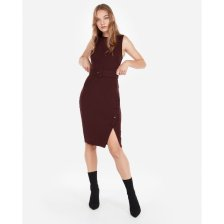 Shop Button Skirt Belted Dress Red Women's XXS and more