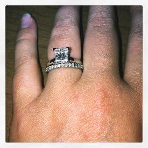new wedding ring princesscut weddingring newsetting vprong diamond weddingband
