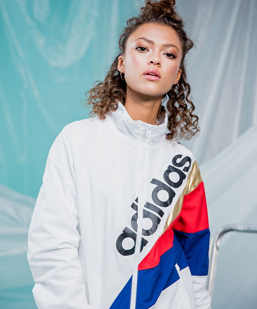 「adidas Originals Tribe Track Top In White」的圖片搜尋結果