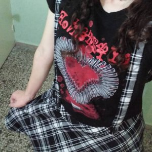 8d9bab1487 Kawai outfit I brought today✨💀😍  hottopic  HTfandom  mcr  overall