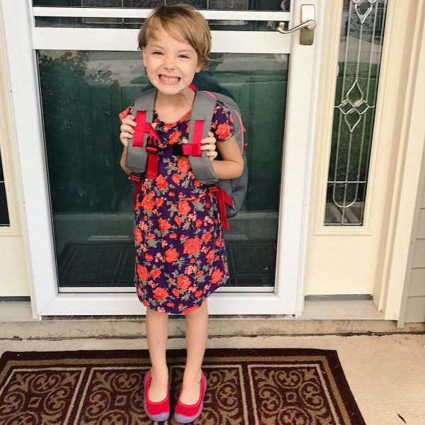 Amira had a great first day!! Her favorite part of the day was when she  found out the cafeteria sells ice cream sandwiches!  <div class=
