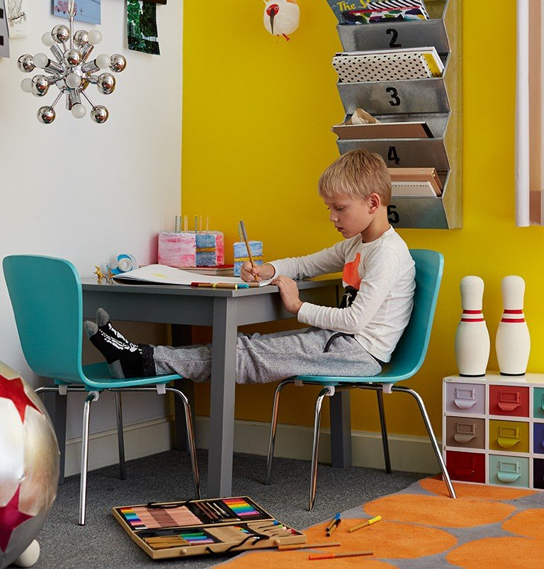 A playtable offers space for homework, games or crafting
