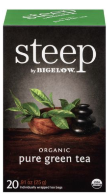 Shop Steep by Bigelow Organic Pure Green Tea and more