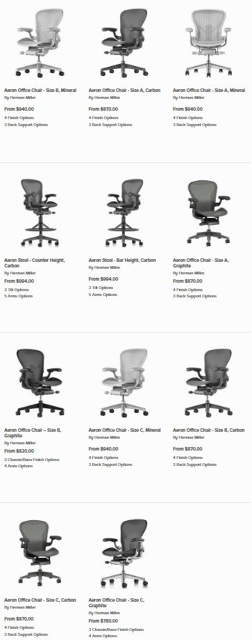 Stupendous Herman Miller Aeron Chair Buying Guide Tips Advice At Dailytribune Chair Design For Home Dailytribuneorg