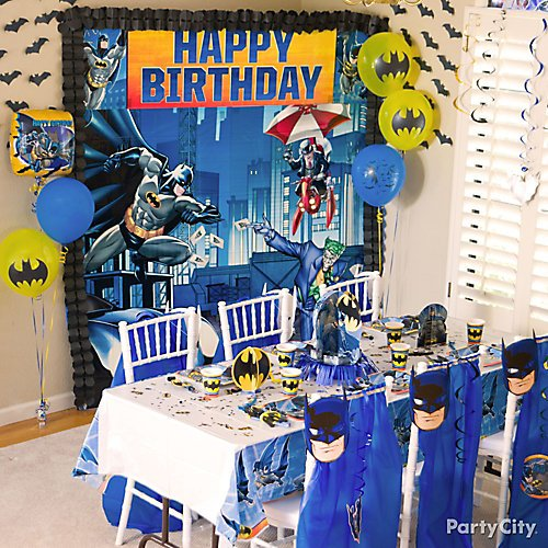 Batman Comic Superhero Plastic Table Cover Child/'s Birthday Party Supplies Boys